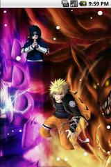 Naruto Versus Sasuke Cool Live Wallpaper