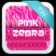Keyboard Pink Zebra Theme
