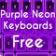 Purple Neon Keyboards Free
