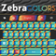 Zebra Keypad Skin Colors