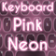 Keyboard Pink Neon