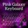Pink Galaxy Keyboard