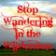 Stop Wandering in the Wilderness