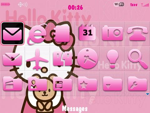 Free BlackBerry 8320 (Curve) 4.2 Cutie Hello Kitty Theme