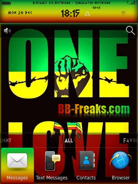 Free One Love Reggae Default OS7 theme by BB-Freaks Software