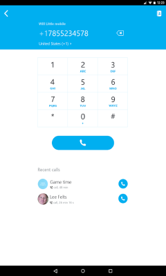 Skype Android version