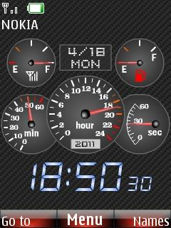 Free Nokia X2-02 / X2-05 Speedometer Clock Software Download