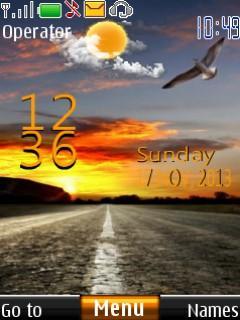Free Nokia C2-02 / C2-03 / C2-05 sunset live clock Software Download